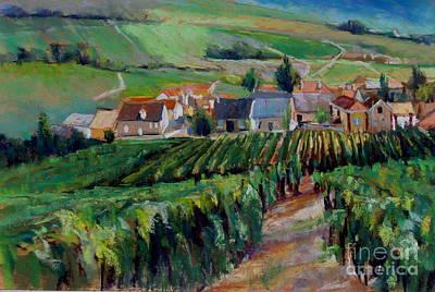 Champagne Painting - Epernay Vineyards by Virginia Dauth