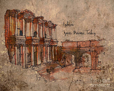 Digital Art - Ephesus 2016 by Kathryn Strick