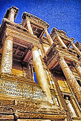 Library Of Celsus Photograph - Ephesus Library by Dennis Cox WorldViews