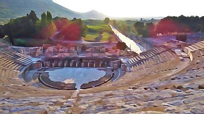 Photograph - Ephesus Theater by Lisa Dunn