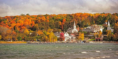 Print featuring the photograph Ephraim Wisconsin In Door County by Heidi Hermes