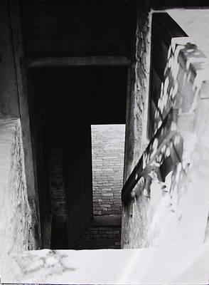 Photograph -  Ephrata Cloisters Shadows by Jacqueline M Lewis