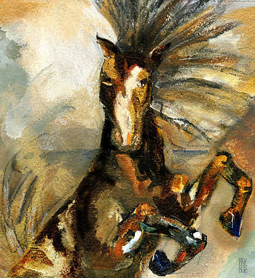 Painting - Epic Bronco Spirit by Revere La Noue