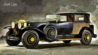 1930 Digital Art - Epic Car - Da by Leonardo Digenio