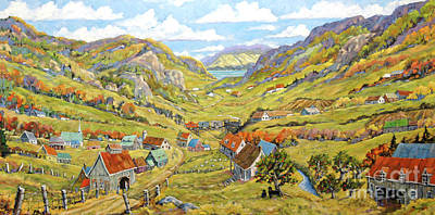 Quebec Painting - Epic Charlevoix Created By Richard Pranke by Richard T Pranke