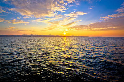 Photograph - Epic Colorful Sunset On Sea by Brch Photography