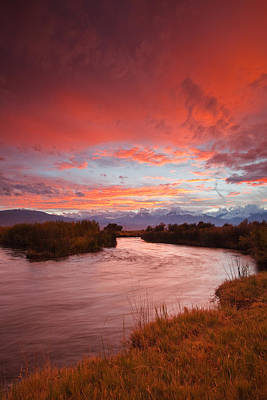 Owens River Photograph - Epic Owens River Sunset by Nolan Nitschke