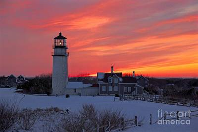 Epic Sunset At Highland Light Art Print by Amazing Jules