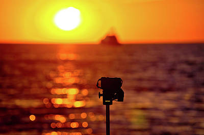 Photograph - Epic Sunset Photograpgy With Dslr On Tripod by Brch Photography