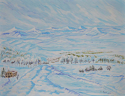 Painting - Epic Swiss Winter by Felicia Tica