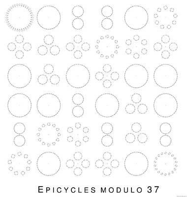 Digital Art - Epicycles Modulo 37 by Martin Weissman