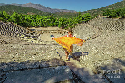 Photograph - Epidaurus Theater Greece by Benny Marty