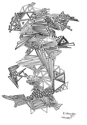 Thomas Kinkade Rights Managed Images - Epitaxy Ink Drawing by Regina Valluzzi Royalty-Free Image by Regina Valluzzi