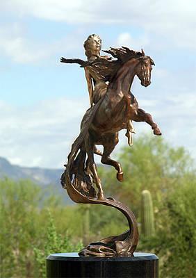 Horse Sculpture - Epona Celtic Goddess Of Horse by J Anne Butler