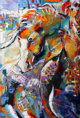 Equine Painting - Epsilon by Laurie Pace