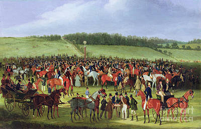 1867 Painting - Epsom Races - The Betting Post by James Pollard