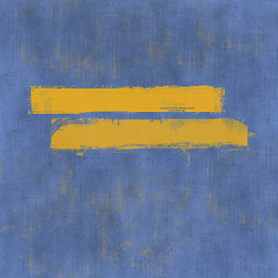 Yellow Wall Art - Painting - Equal by Julie Niemela