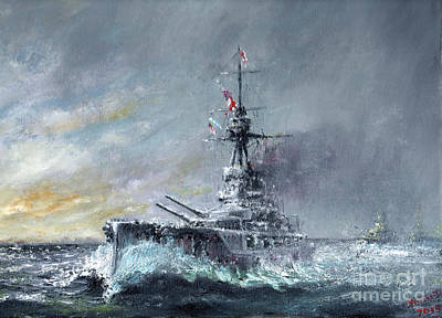 Equal Speed Charlie London, Jutland 1916 Art Print