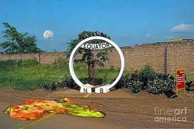 Equator Crossing Point Art Print by Morris Keyonzo