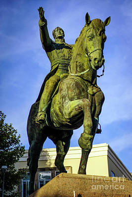 Photograph - Equestrian Monument Of Simon Bolivar Cadiz Spain by Pablo Avanzini