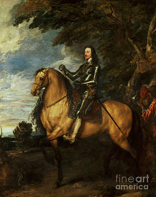 Sir Charles Painting - Equestrian Portrait Of Charles I  by Sir Anthony van Dyck