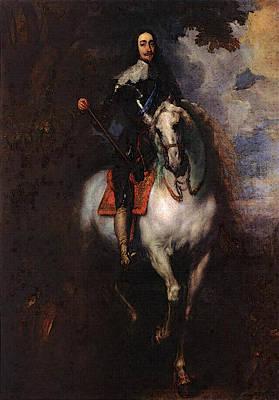 Digital Art - Equestrian Portrait Of Charlesi King Of England  by Sir Antony van Dyck