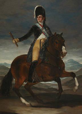 Fernando Painting - Equestrian Portrait Of Fernando Vii by Francisco Goya
