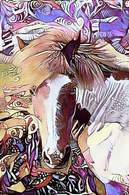 Mixed Media - Equine Fantasy by Susan Maxwell Schmidt