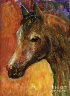 Watercolor Pet Portraits Wall Art - Painting - Equine Horse Painting  by Svetlana Novikova