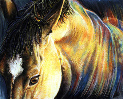 Chestnut Dun Horse Painting - Equine Inspiration by Risa Kent
