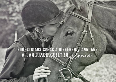Equine Pact Quote Art Print by JAMART Photography