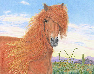 Beautiful Vistas Drawing - Equine Spa Day by Diana Hrabosky