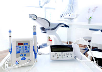 Accessory Photograph - Equipment And Dental Instruments In Dentist's Office. Dentistry by Michal Bednarek