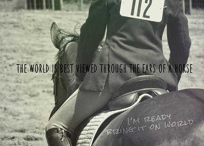 Equitation Quote Art Print by JAMART Photography