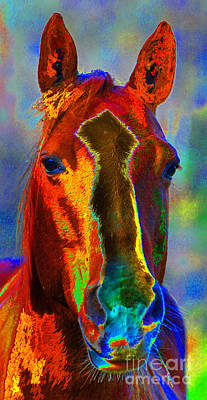 Diane Berry Digital Art - Equus by Diane E Berry