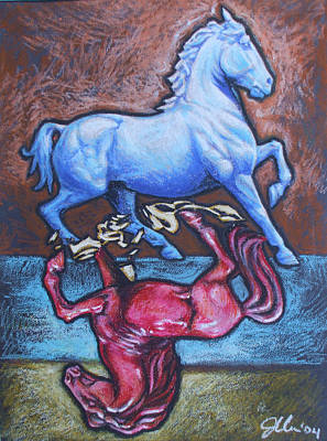 Equus Art Print by Jennifer Bonset