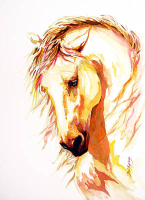 Horse Portrait Drawing - Equus by J- J- Espinoza