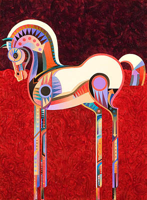 Abstract Realism Painting - Equus Vi by Bob Coonts