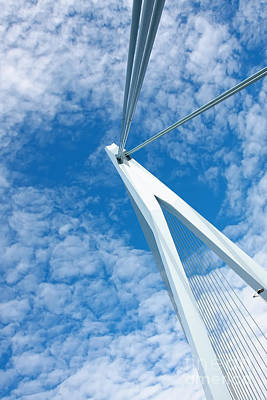 Netherlands Photograph - Erasmus Bridge Triangle by Jan Brons