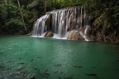 Photograph - Erawan Falls 2nd Falls 2 by Scott Cunningham