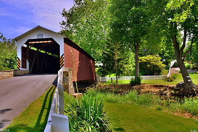 Photograph - Erb's Covered Bridge 2 by Lisa Wooten