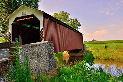 Photograph - Erb's Covered Bridge by Lisa Wooten