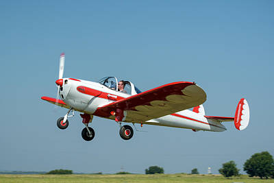Twin Tailed Photograph - Ercoupe by James Barber