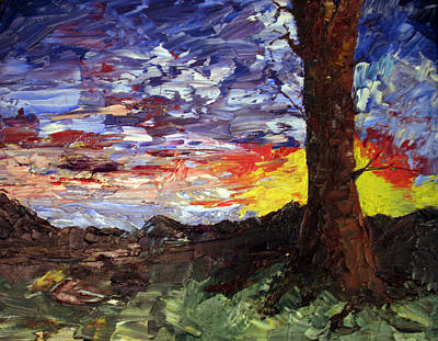 Painting - Erda Sunset by Jane Autry