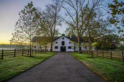 Erdenheim Farm Equestrian Center - Whitemarsh Pa Art Print by Bill Cannon