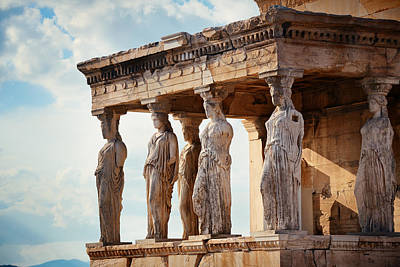 Photograph - Erechtheion Temple by Songquan Deng