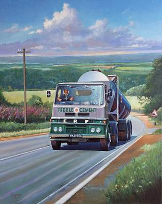 Painting - Erf Tanker. by Mike Jeffries