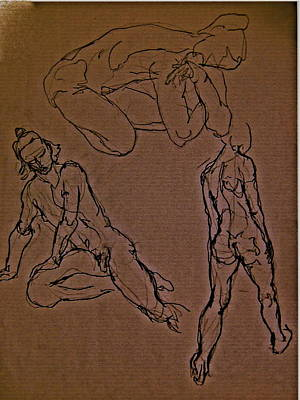 Male Nude Drawing Drawing - Ergon by Chris  Riley