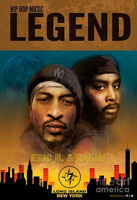 Art Print featuring the digital art Eric B. And Rakim by Dwayne Glapion