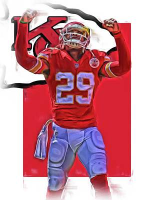 Eric Berry Kansas City Chiefs Oil Art Art Print